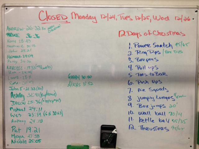 12 Days Of Christmas Crossfit Wod.12 Days Of Christmas Welcome To Crossfit Beyond