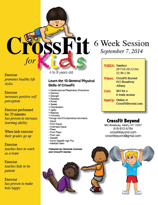 CrossFit for Kids Flyer 2014