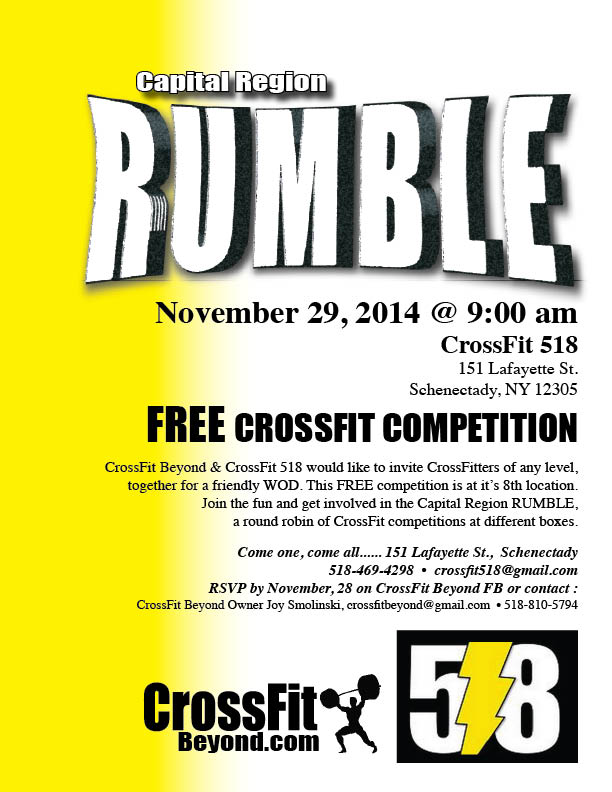 Capital Region Rumble_ Nov